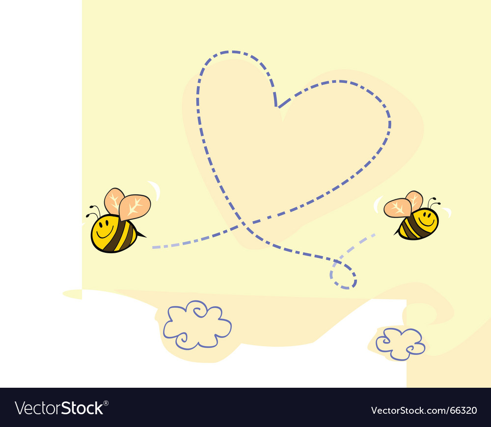 Bee's heart vector image