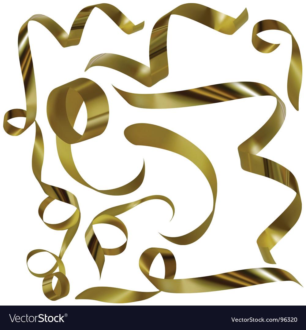 Golden elements vector image