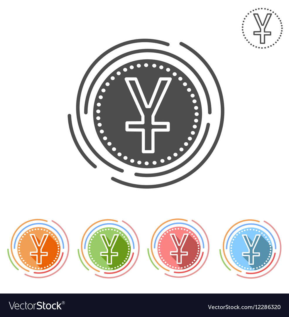 Yuan sign Insulated flat icon vector image