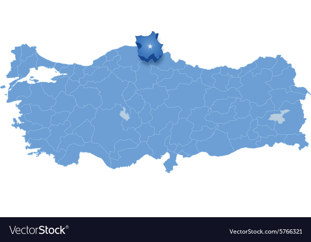 Map of Turkey Sinop Royalty Free Vector Image VectorStock