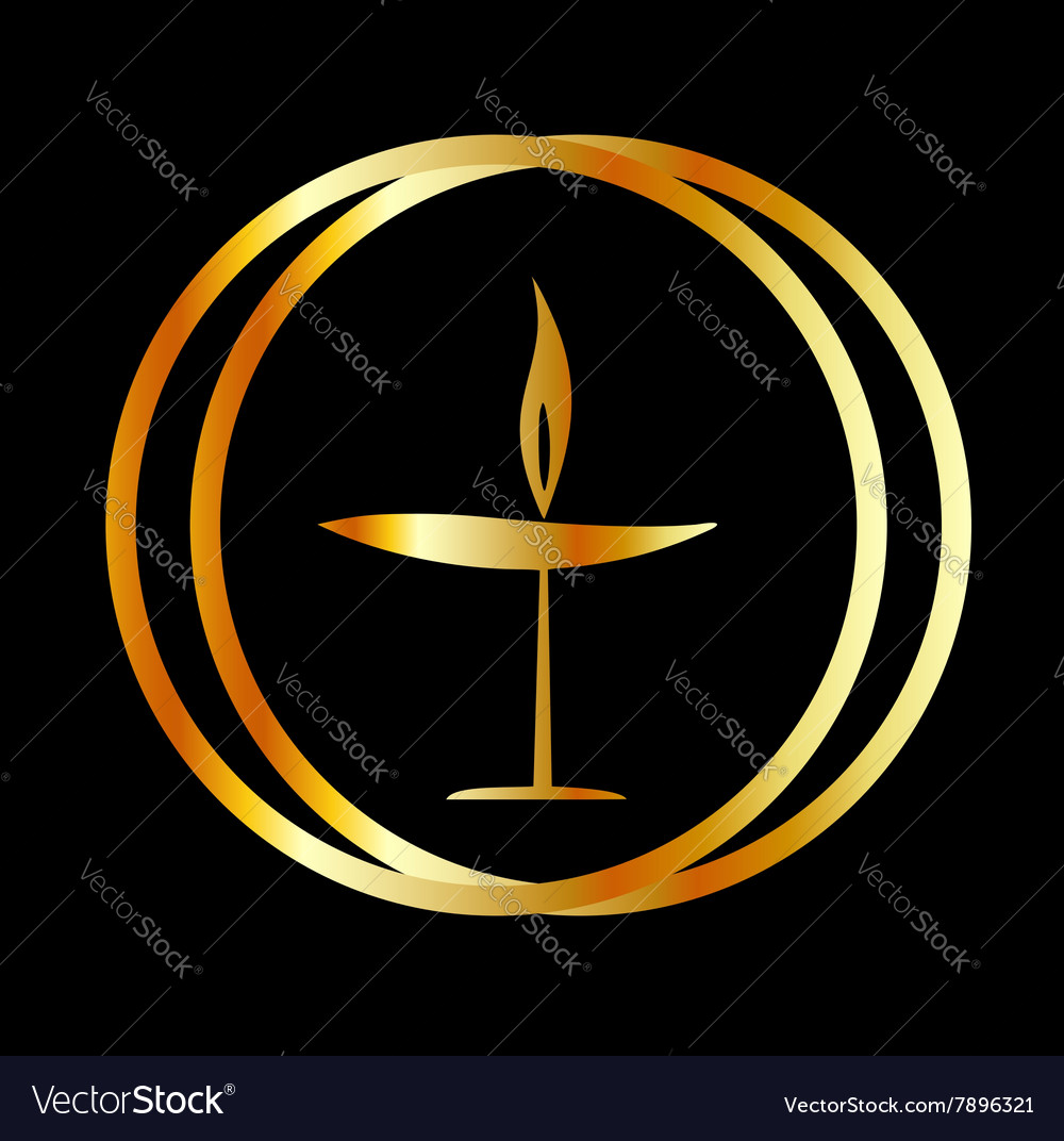 The Flaming Chalice vector image