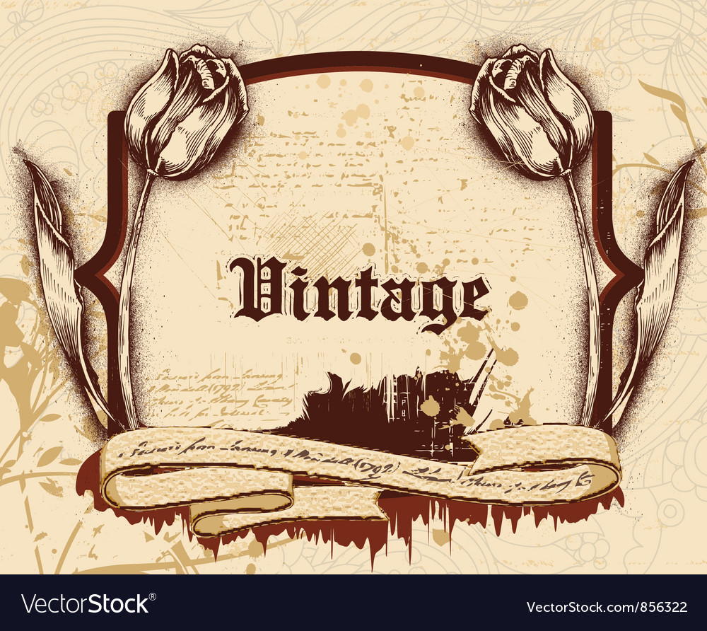Vintage frame vector image
