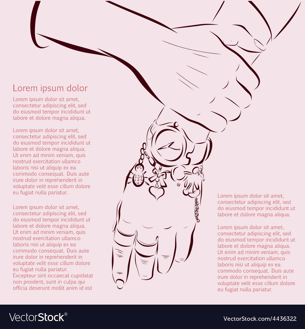 Hand made woman hands with accessories Royalty Free Vector