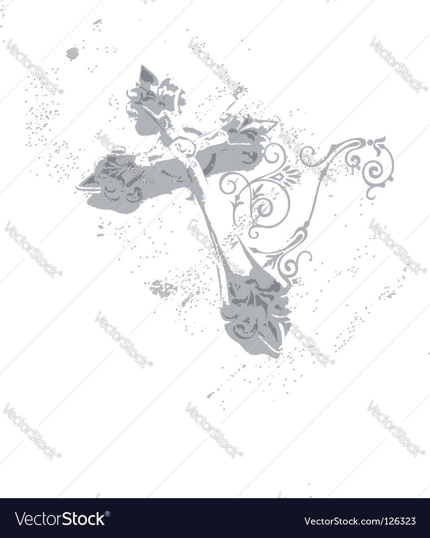 Cross ii vector image