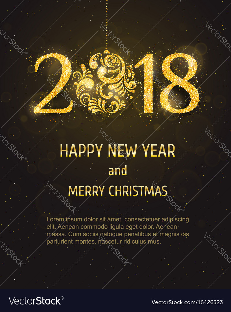 2018 happy new year and merry christmas vector image