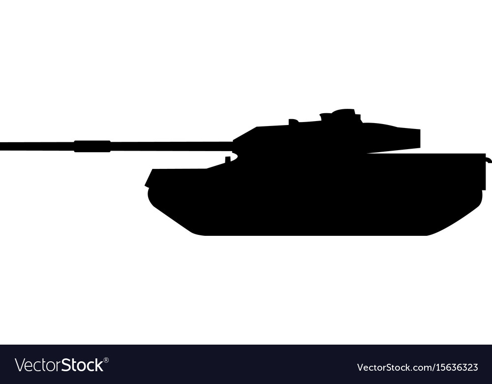 Tank the black color icon vector image