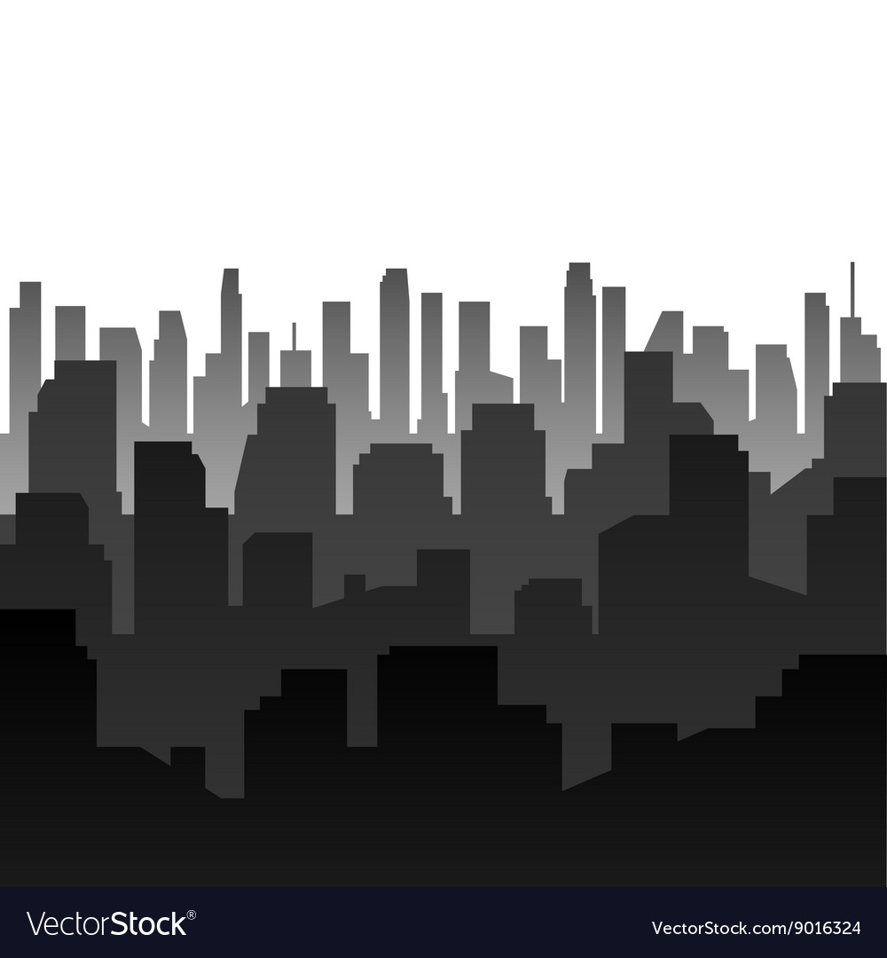 Background Silhouette of the city vector image