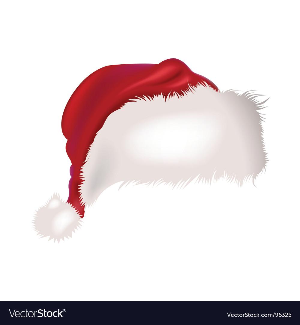 Santa cap vector image