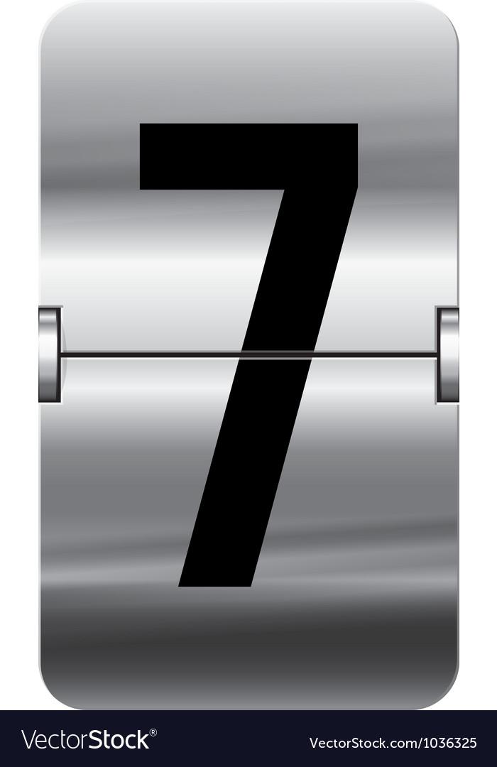 Alphabet silver flipboard letters 7 vector image