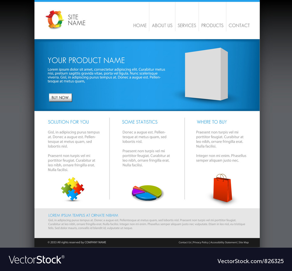 Modern web product template vector image