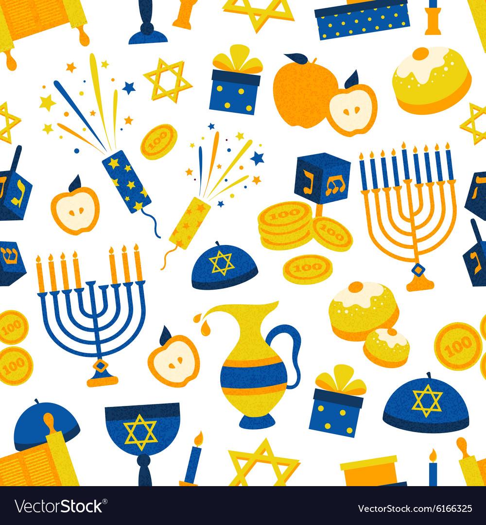 Uncategorized Chanukah Symbols seamless pattern with hanukkah symbols royalty free vector image