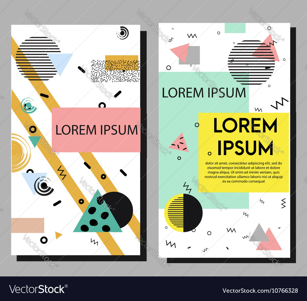 Artistic flyers design templates vector image