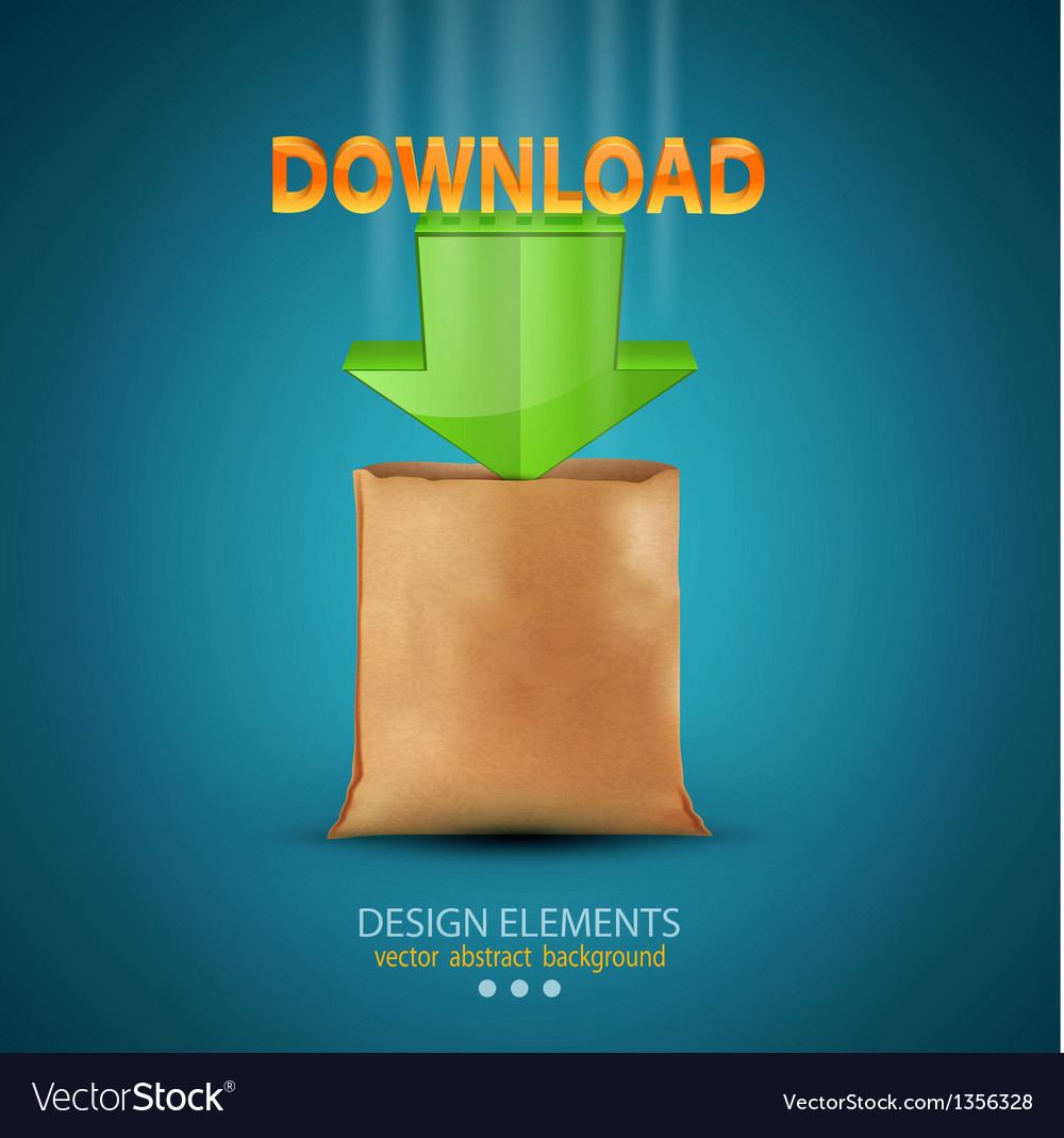 Icon download vector image