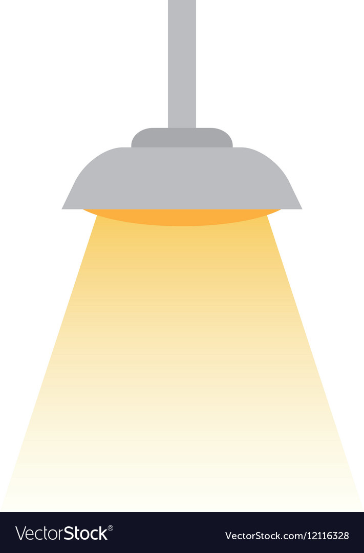 Isolated light lamp vector image