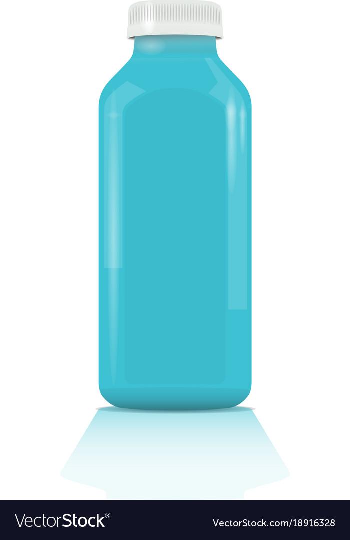 Plastic bottle for beverages or medicine plastic vector image