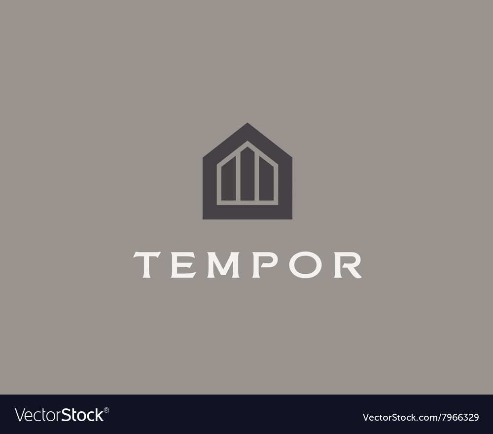 Abstract house logo design template Premium real Vector Image