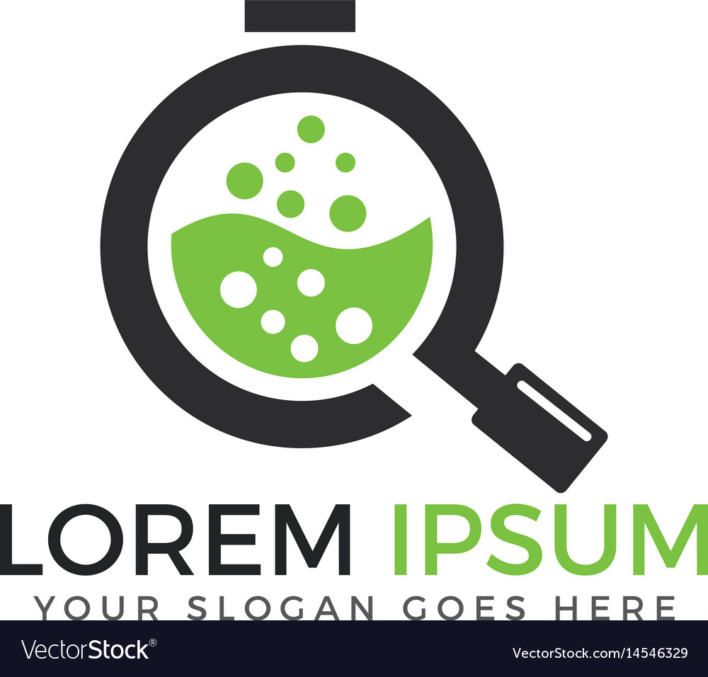 Chemical laboratory logo design vector image