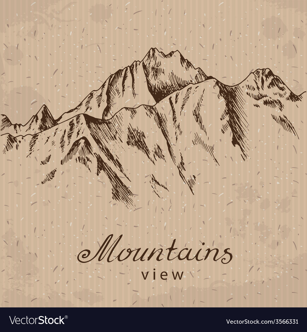 Mountain peak vector image