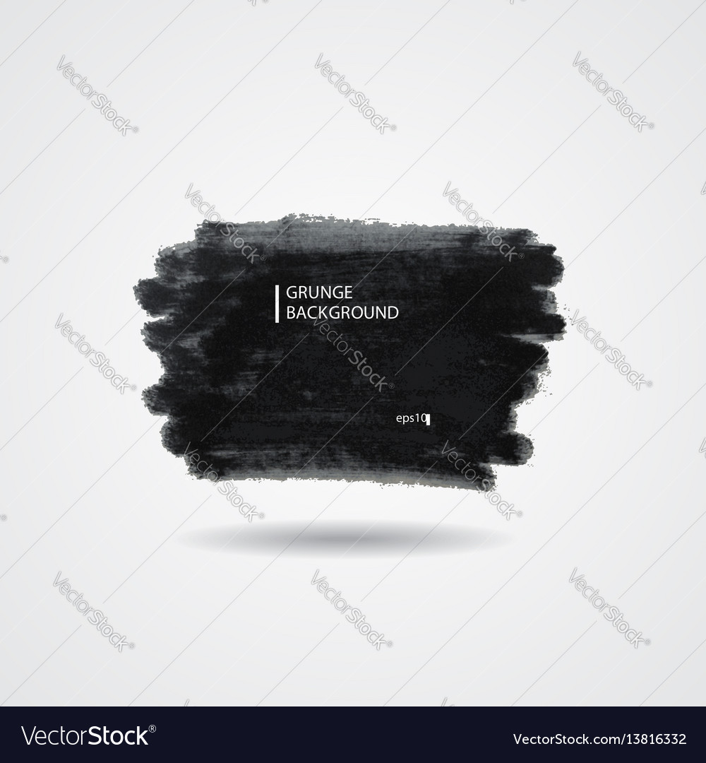 Abstract hand painted black marker vector image