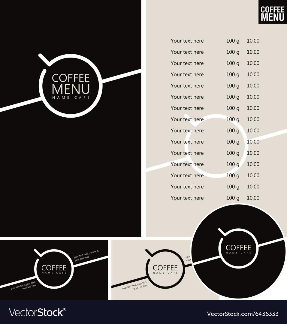 Set for the cafe menu vector image