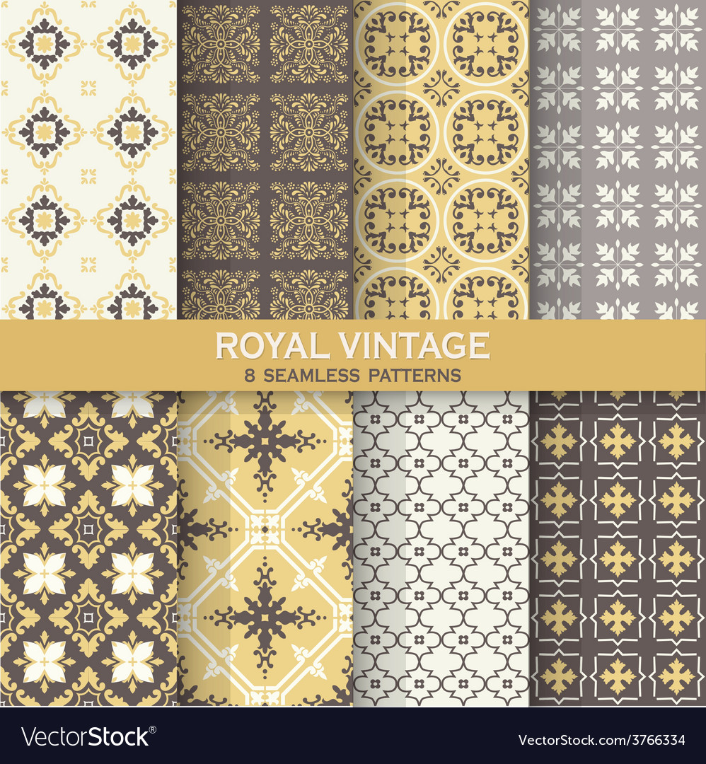Seamless backgrounds Collection - Vintage Tile vector image