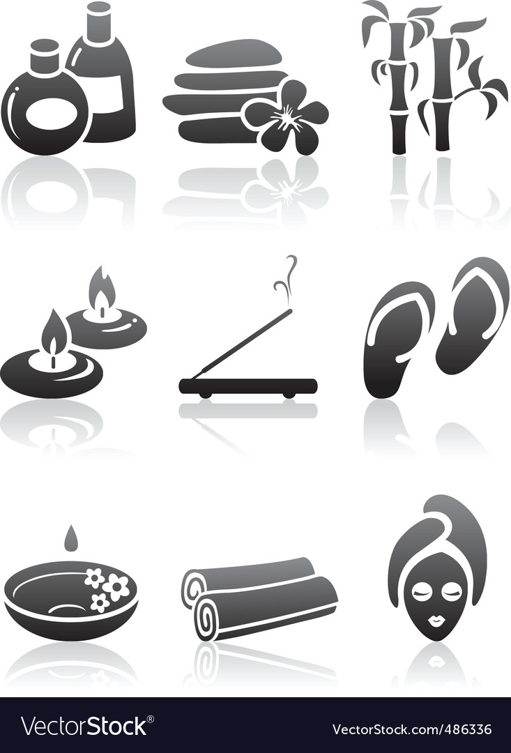 Spa icons vector image