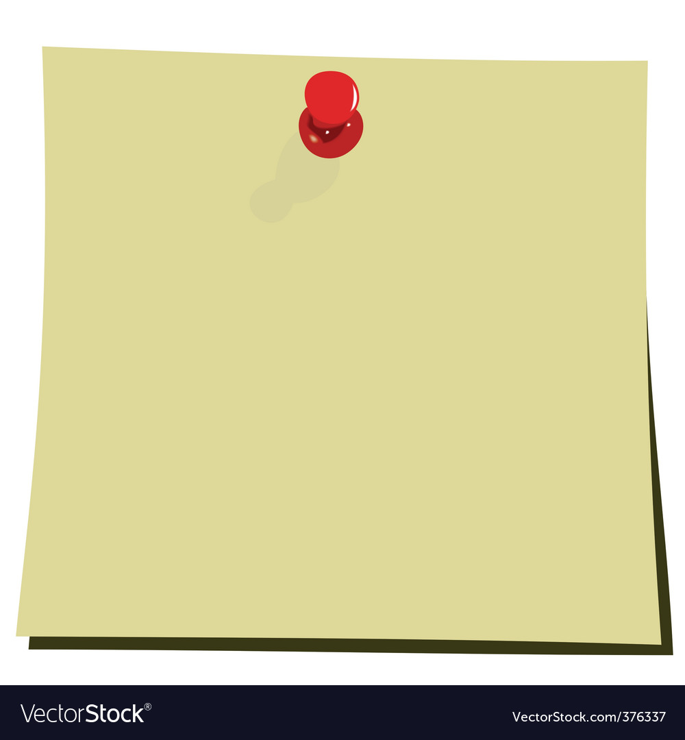 Yellow note pad vector image