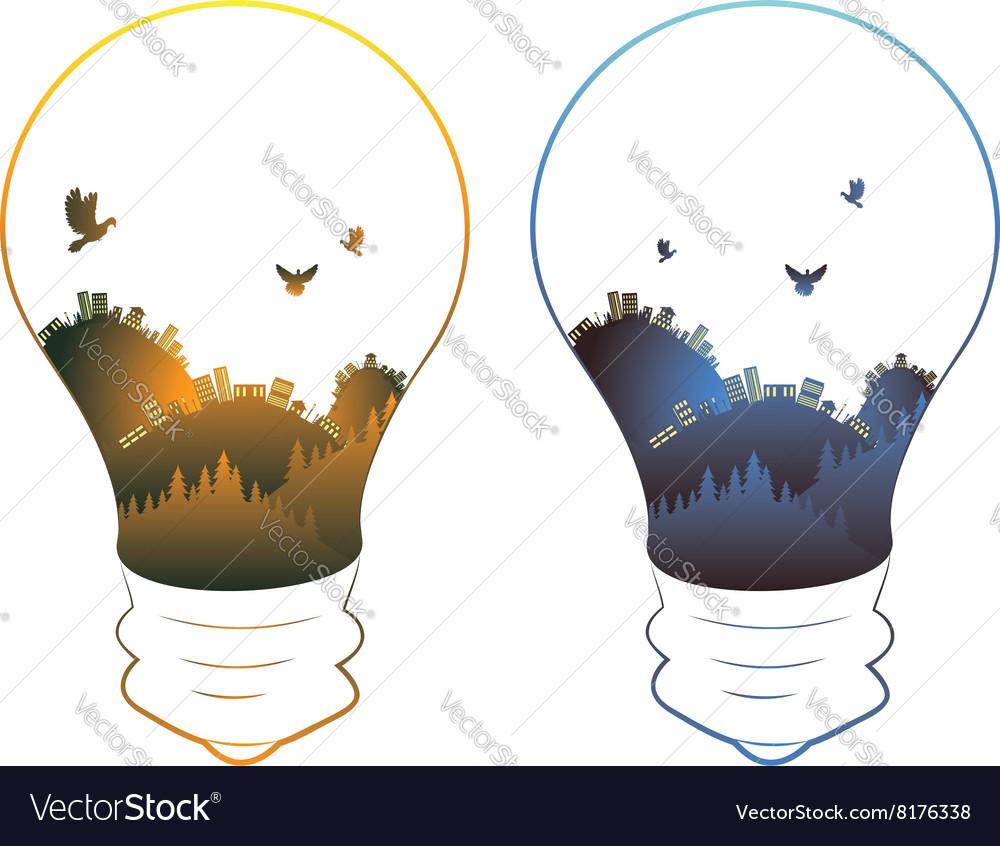 City in a Lightbulb6 vector image