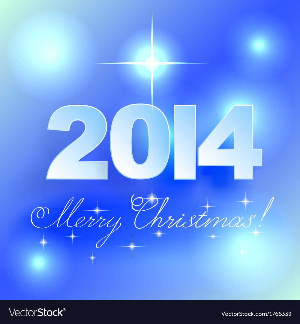 Merry Christmas light background with stars vector image