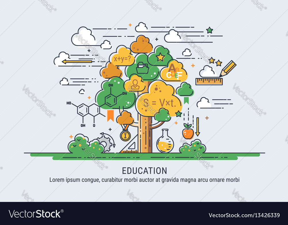 Tree of knowledge vector image