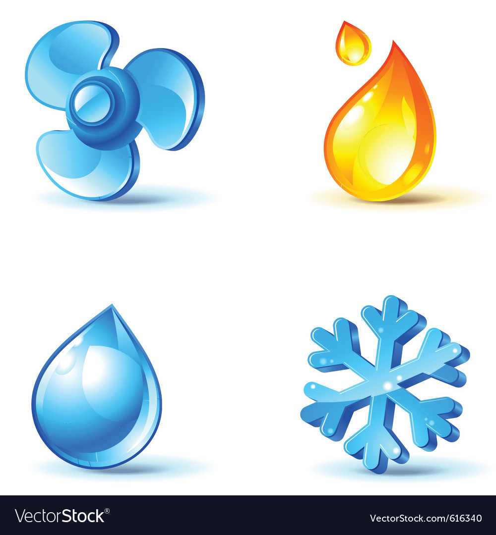 Air-conditioner icons vector image