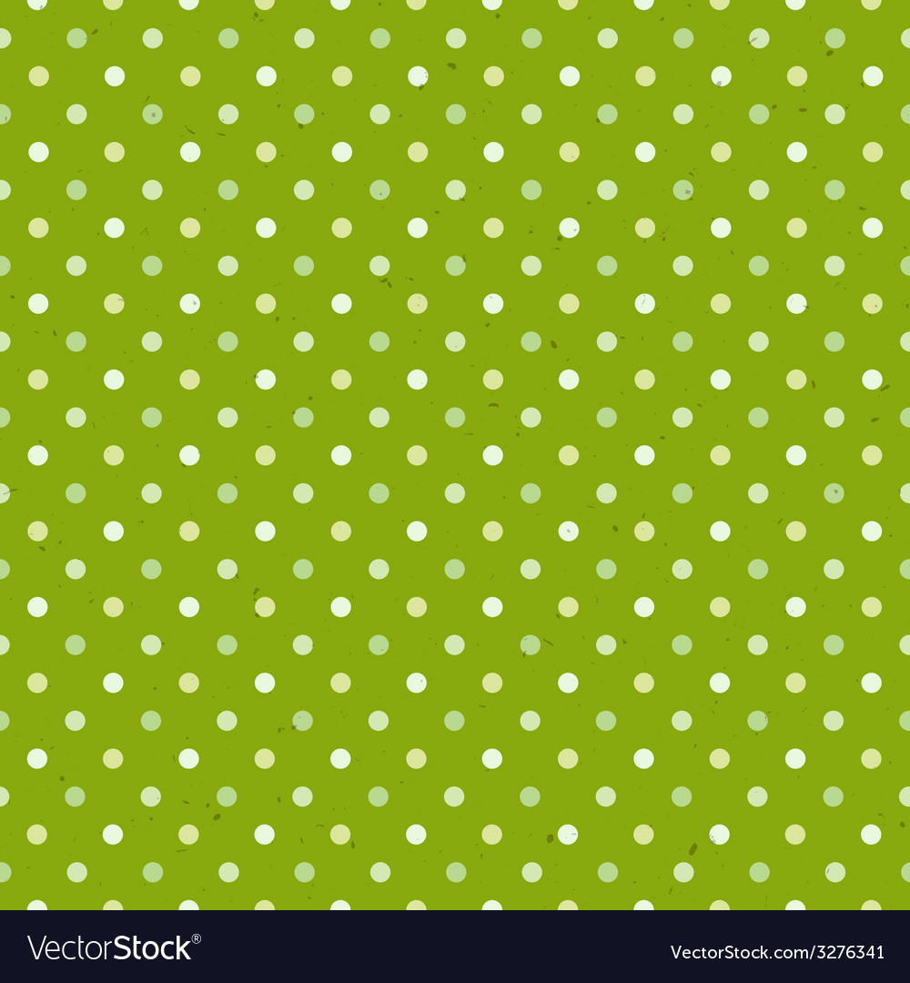 Green textured polka dot seamless pattern vector image