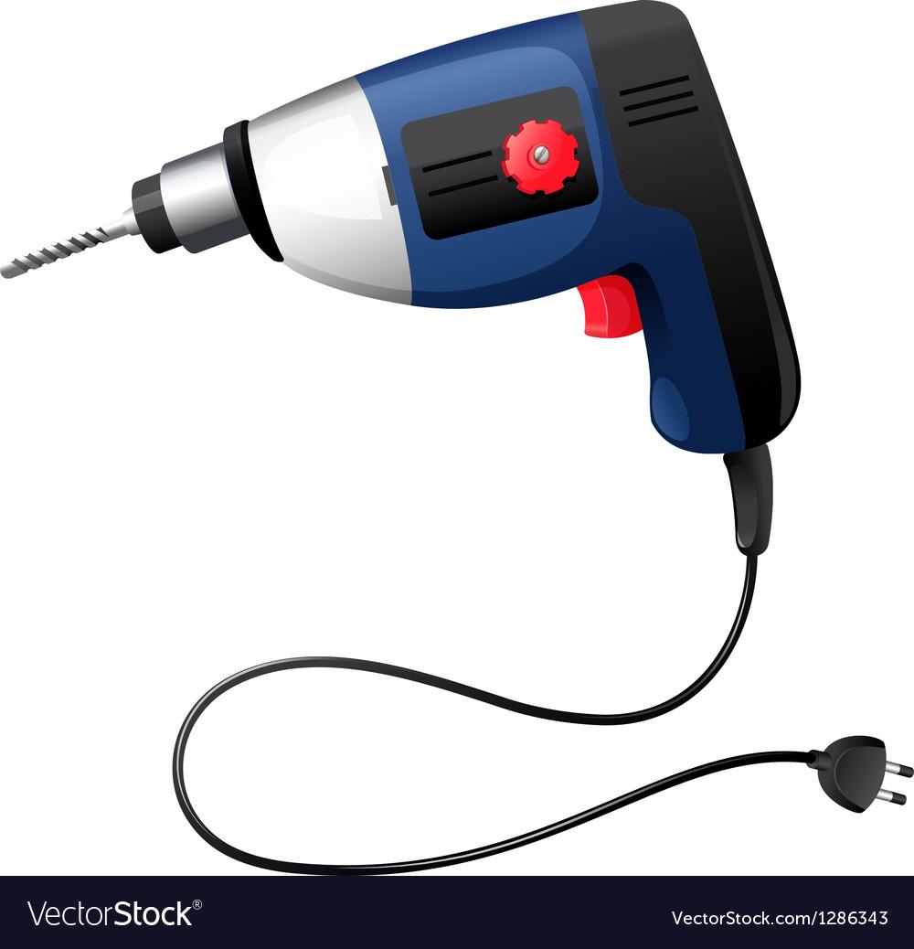 A hammer drill vector image