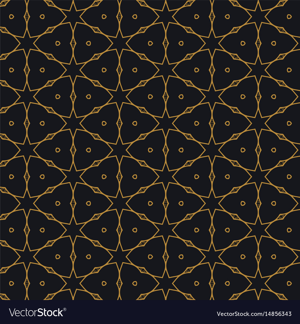 Islamic pattern design in black background vector image