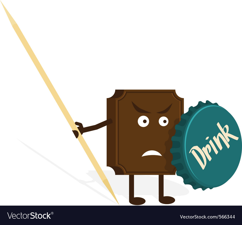 Chocolate warrior vector image