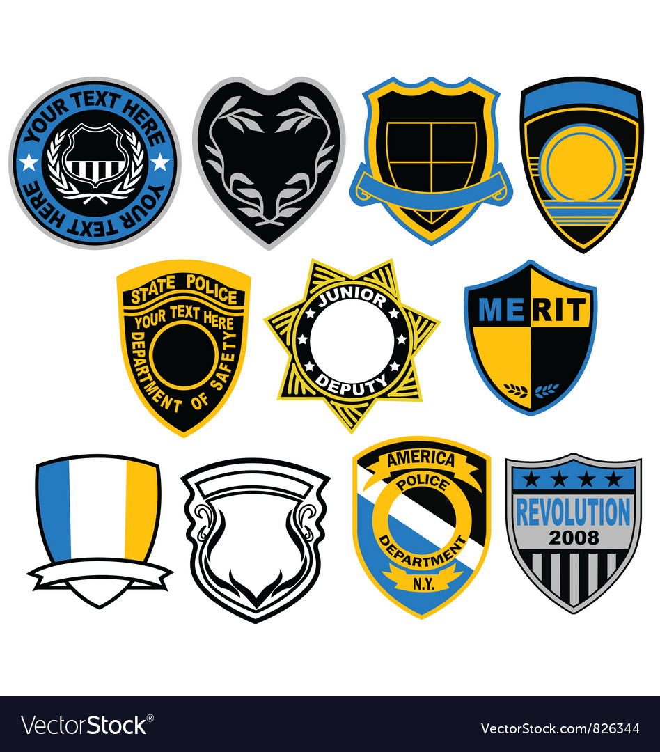 Badge collection vector image