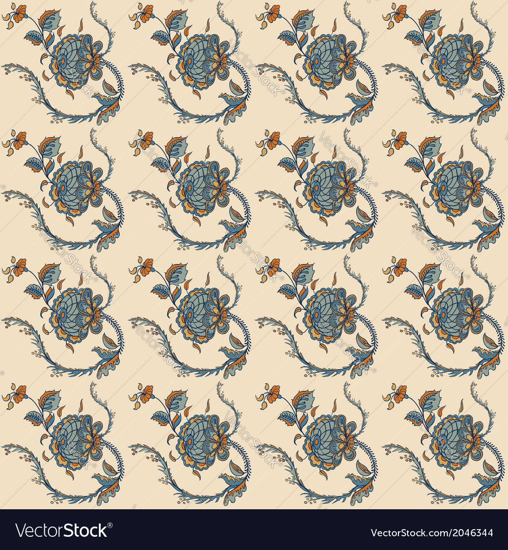 Elegance Seamless pattern with flowers ornament vector image