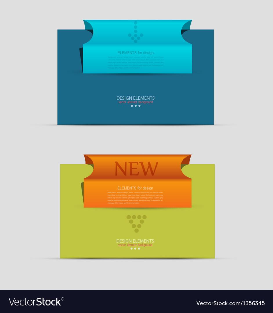 Banner business unit vector image