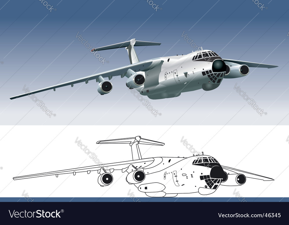 Commercial freighter vector image
