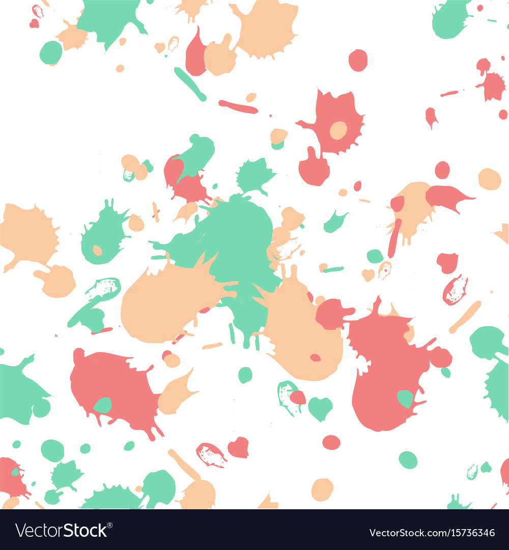 Swatches and paint strokes seamless wallpaper vector image