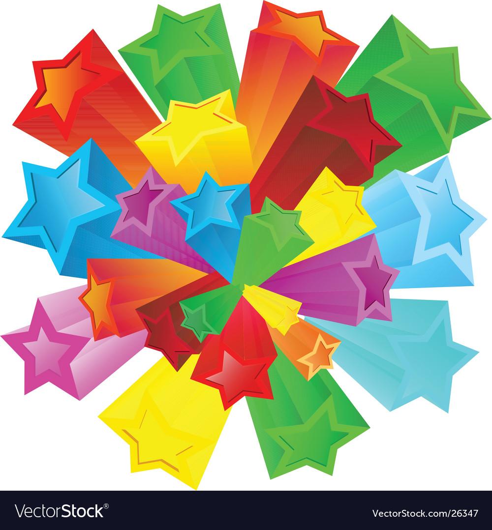 Retro stars vector image