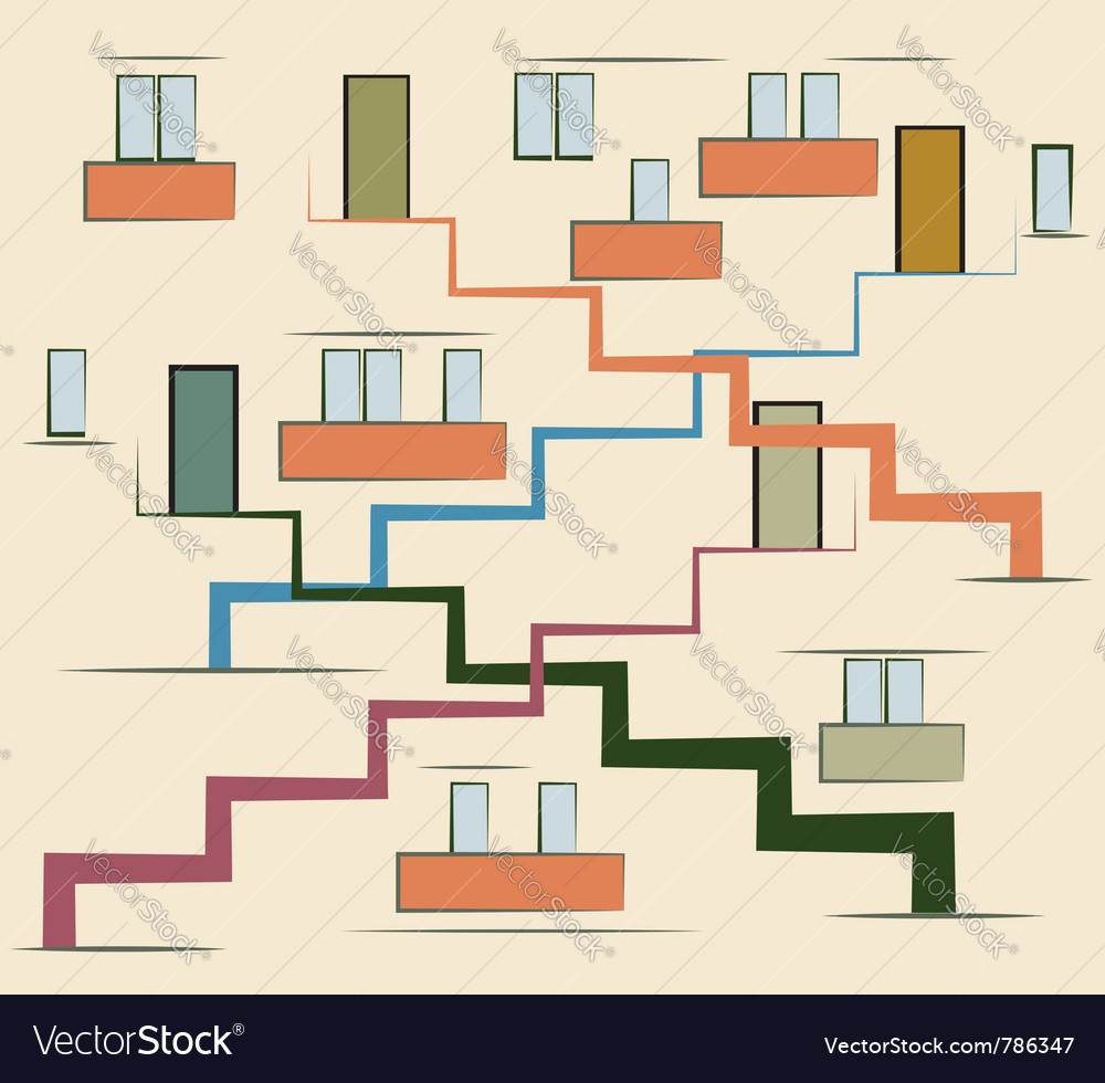 Abstract multi storey building vector image