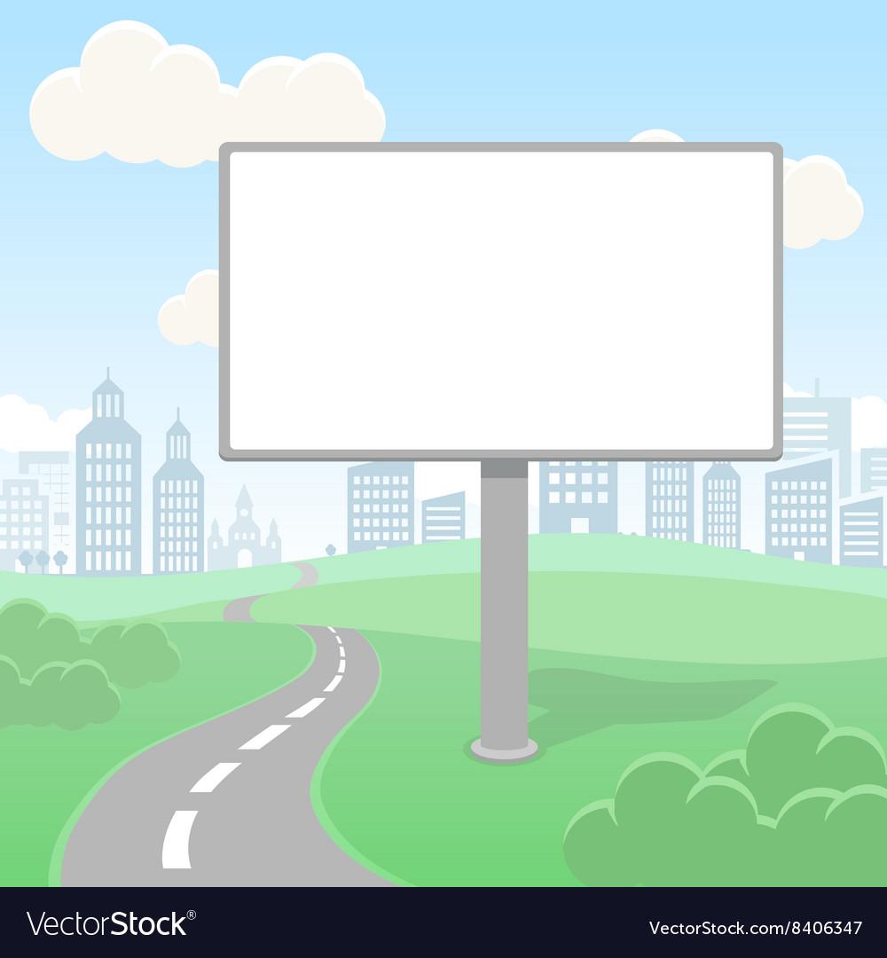 Blank empty billboard screen and urban vector image