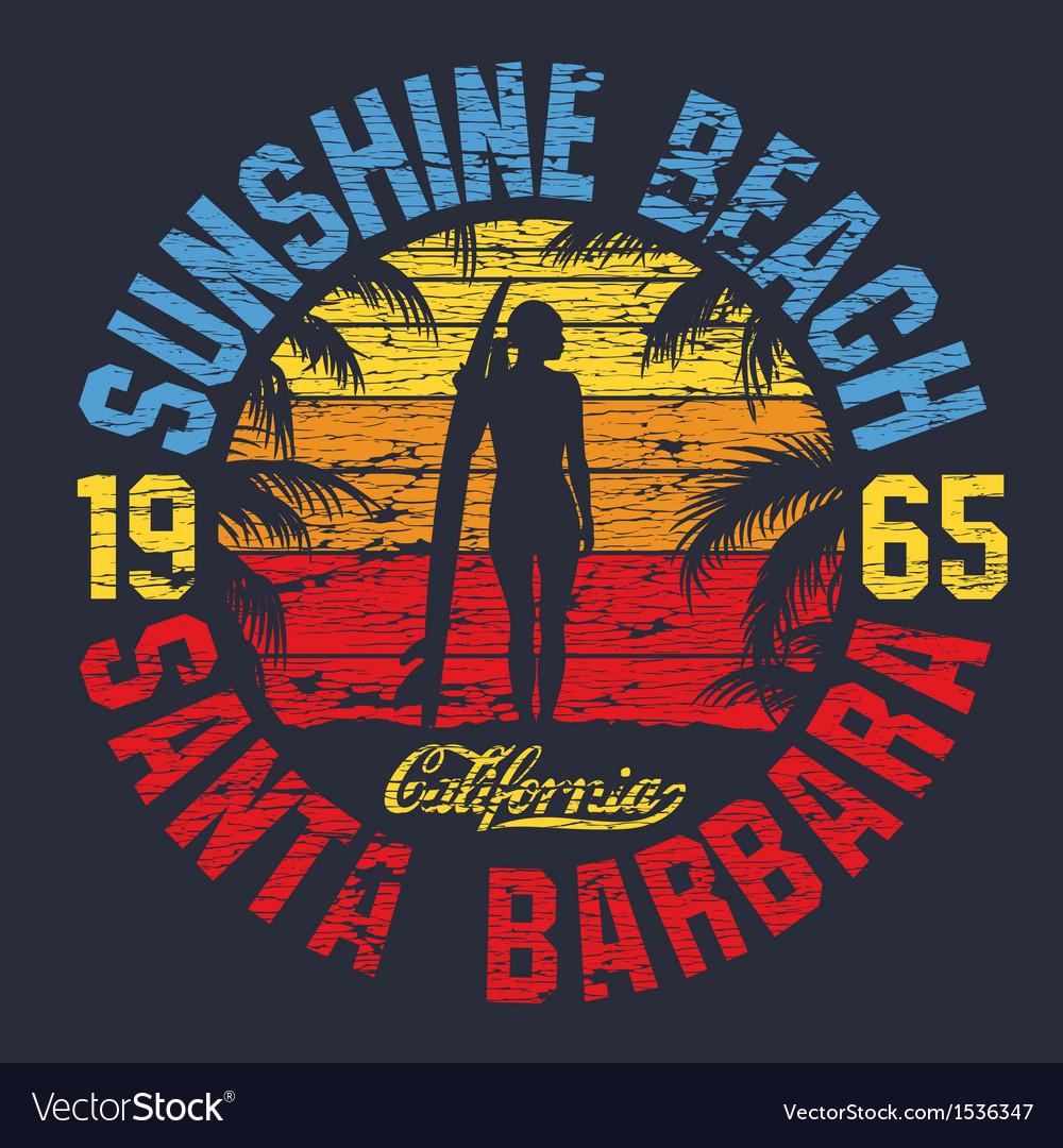 Summer artwork vector image