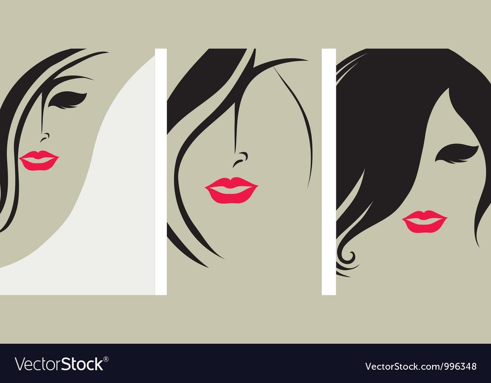 Woman hair back vector image