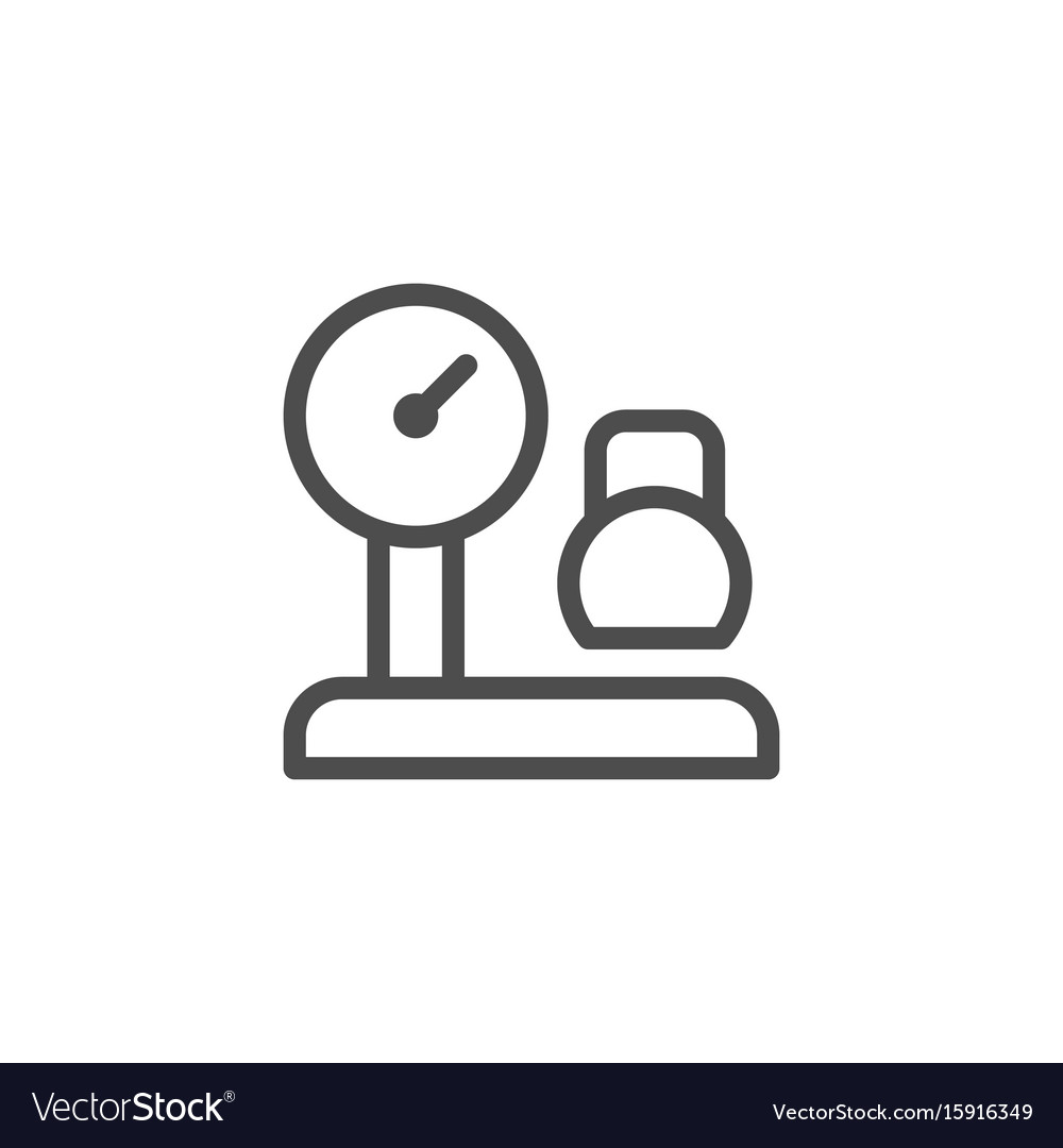 Cargo weighing line icon vector image