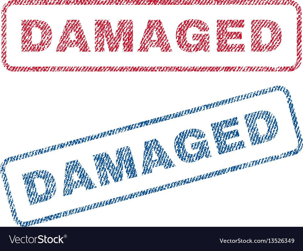 Damaged textile stamps vector image