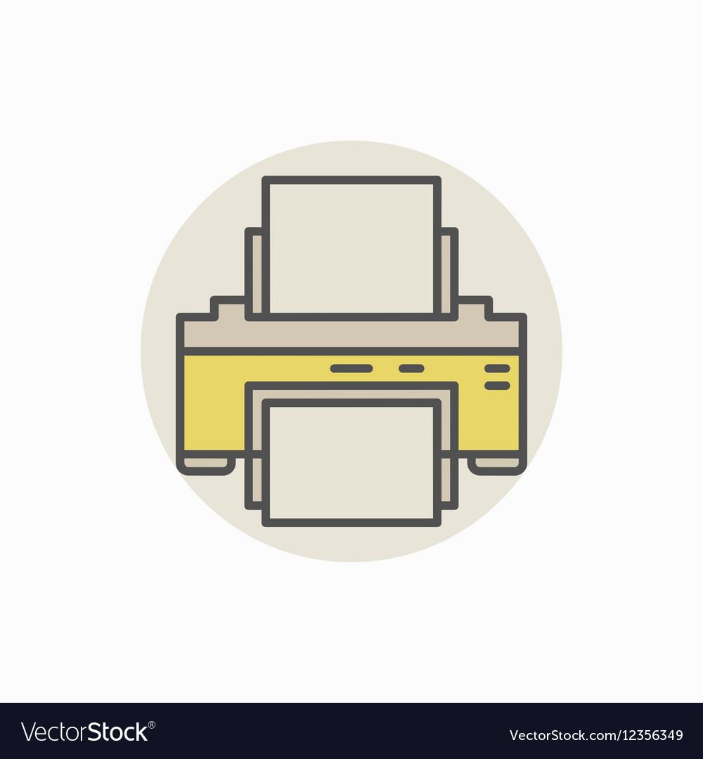 Printer colorful icon vector image