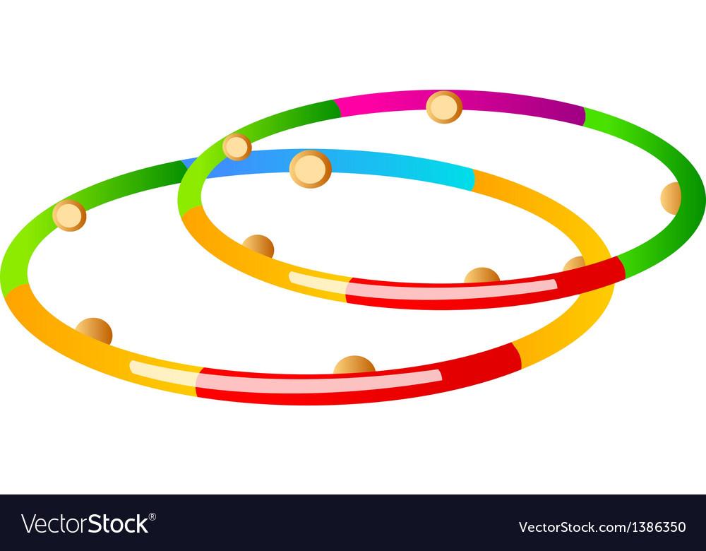 Icon hula hoop vector image