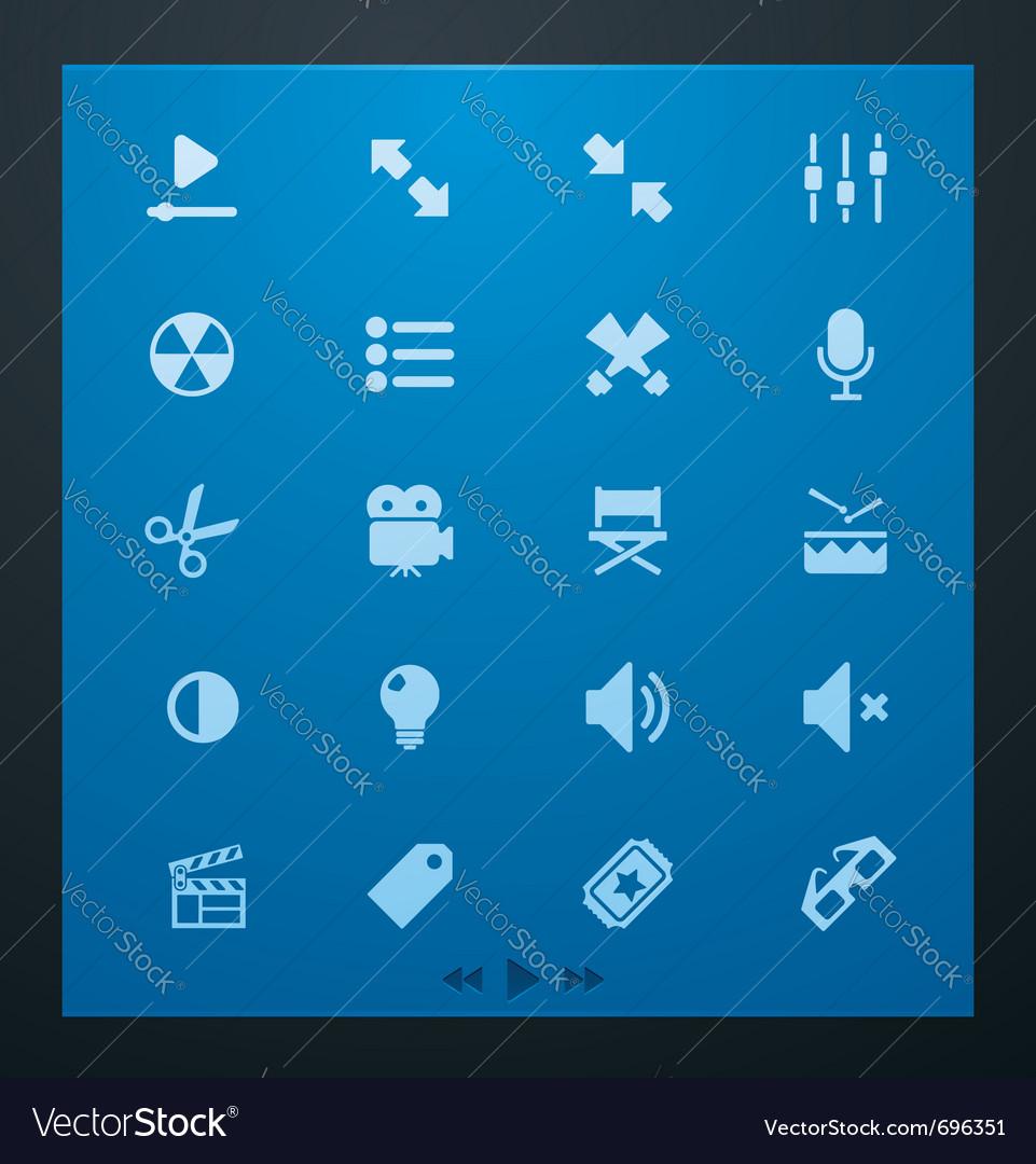 Universal glyphs 1 video set vector image